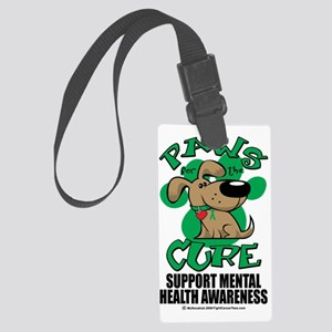 Paws-for-the-Cure-Menatal-Health Large Luggage Tag