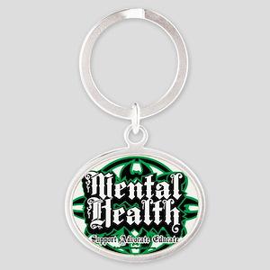 Mental-Health-Tribal Oval Keychain