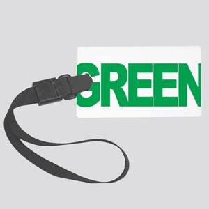 Mental-Health-Think-Green-blk Large Luggage Tag