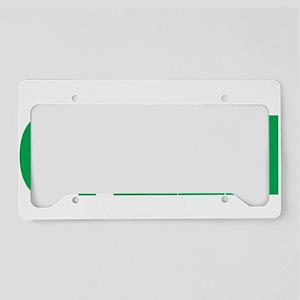 Mental-Health-Think-Green-blk License Plate Holder