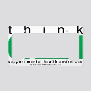 Mental-Health-Think-Green License Plate Holder