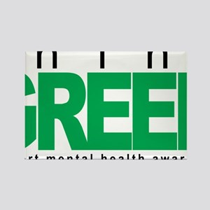 Mental-Health-Think-Green Rectangle Magnet