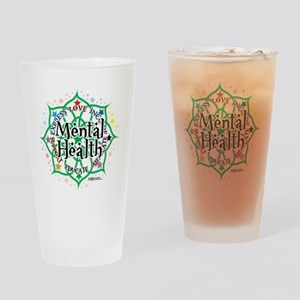 Mental-Health-Lotus Drinking Glass