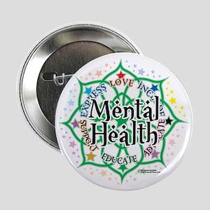 "Mental-Health-Lotus 2.25"" Button"