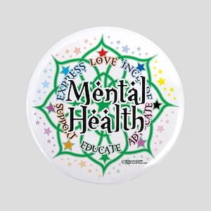 "Mental-Health-Lotus 3.5"" Button"