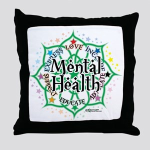 Mental-Health-Lotus Throw Pillow