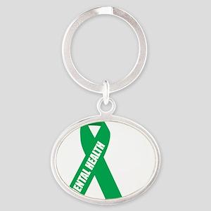 Mental-Health-Hope-blk Oval Keychain