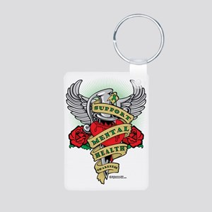 Mental-Health-Dagger Aluminum Photo Keychain