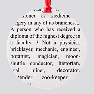 doctor Round Ornament
