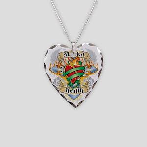 Mental-Health-Cross--Heart Necklace Heart Charm