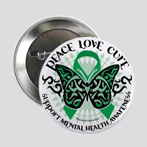 """Mental-Health-Butterfly-Tribal-2 2.25"""" Button"""