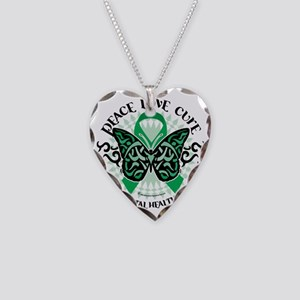 Mental-Health-Butterfly-Triba Necklace Heart Charm