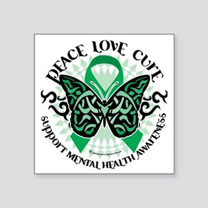 "Mental-Health-Butterfly-Tri Square Sticker 3"" x 3"""