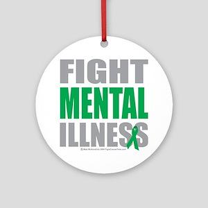 Fight-Mental-Illness Round Ornament