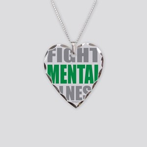Fight-Mental-Illness Necklace Heart Charm