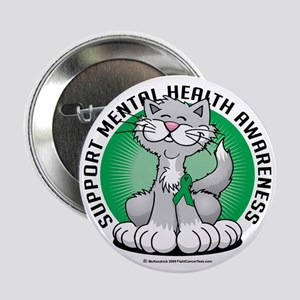 """Paws-for-Mental-Health-Cat 2.25"""" Button"""