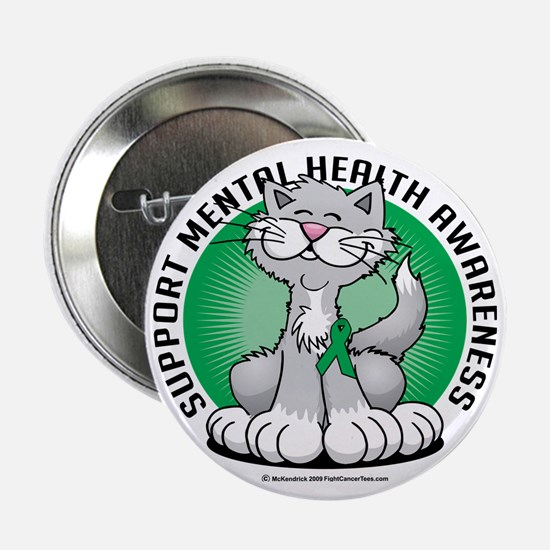 "Paws-for-Mental-Health-Cat 2.25"" Button"