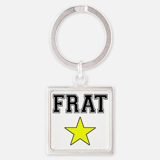 Frat Star Square Keychain