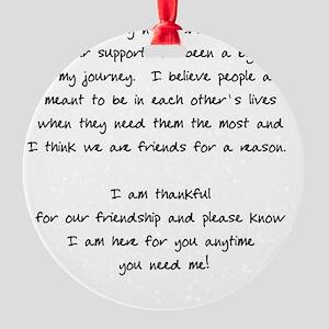 onlinefriendIN Round Ornament