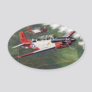 t-34_cafepress Oval Car Magnet