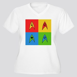 trekpopart Women's Plus Size V-Neck T-Shirt