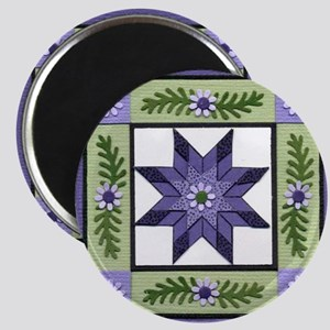 PurpleGreenLoneStar Magnet