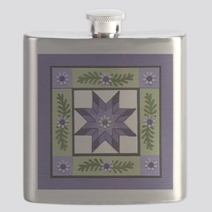 PurpleGreenLoneStar Flask
