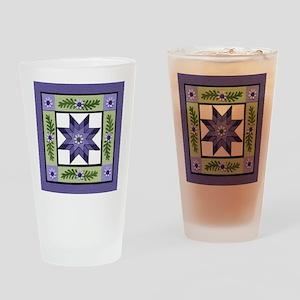 PurpleGreenLoneStar Drinking Glass