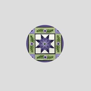 PurpleGreenLoneStar Mini Button