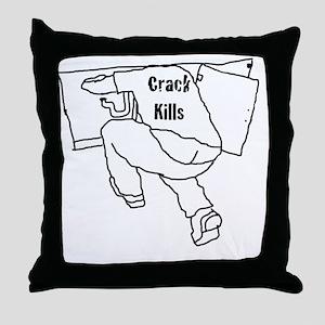 Crack Kills PB White Throw Pillow