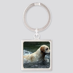 Labradoodle calendar Square Keychain