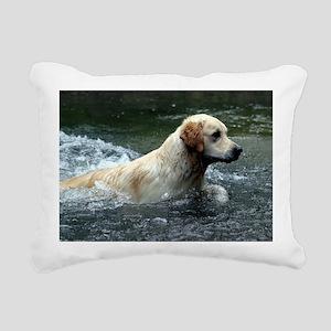 Labradoodle post Rectangular Canvas Pillow