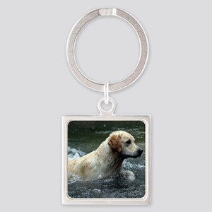 Labradoodle pillow Square Keychain
