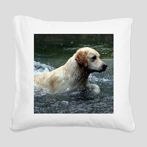 Labradoodle pillow Square Canvas Pillow