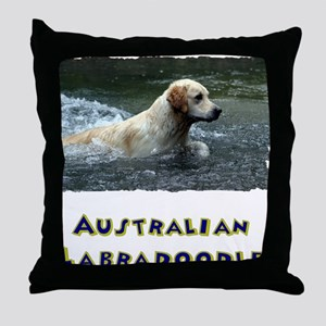 Labradoodle shirt Throw Pillow