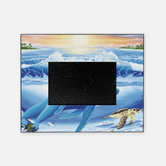 whale and turtle long  Picture Frame