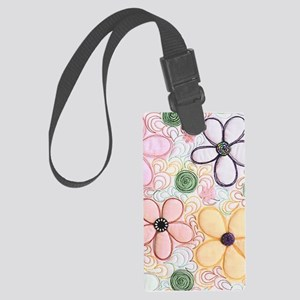 flwr_quilted Large Luggage Tag