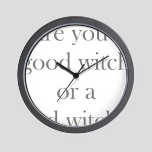 Good Witch Bad Witch Wall Clock