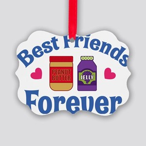 Peanut Butter Jelly BFF Picture Ornament