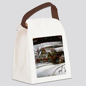 country home Christmas edit Canvas Lunch Bag