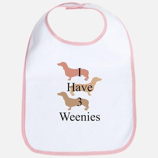 I Have 3 Weenies Bib