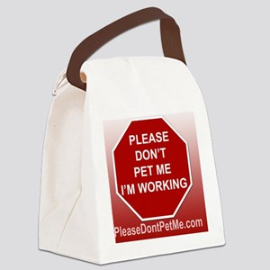 PDPM Im working mousepad Canvas Lunch Bag