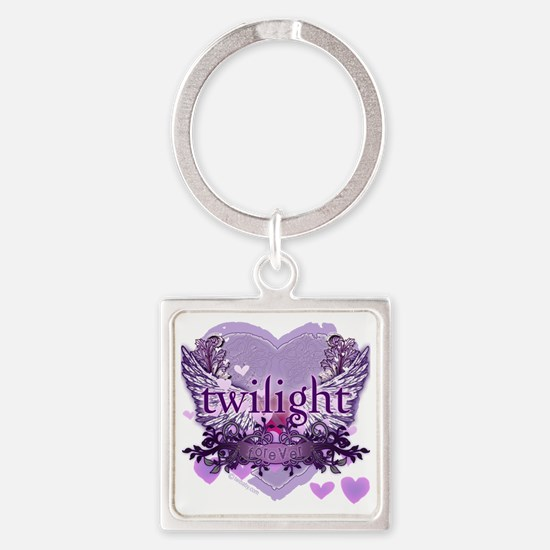 twilight forever purple heart copy Square Keychain