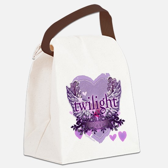 twilight forever purple heart cop Canvas Lunch Bag