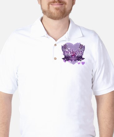 twilight forever purple heart copy Golf Shirt