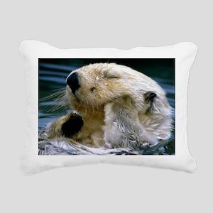 beaver L print Rectangular Canvas Pillow