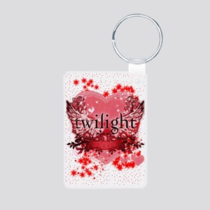 twilight red heart christm Aluminum Photo Keychain