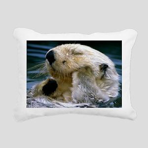 beaver mousepad Rectangular Canvas Pillow