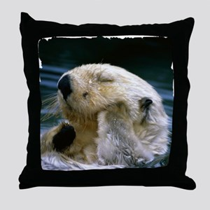 beaver shirt Throw Pillow