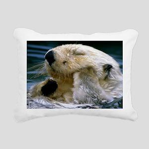 beaver panel Rectangular Canvas Pillow